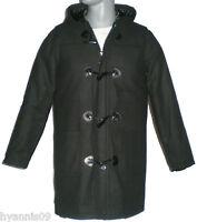 Mens Black Duffel Coat Duffle Jacket Sizes S,m,l,xl,xxl, Xxxl