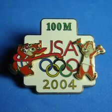Chip and Dale Decathlon Pin Pursuit 100M USA Olympic Logo WDW Disney Pin 3D