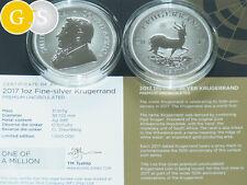 1 Oz Silber P.U. Krugerrand 50 Jahre Südafrika 2017 South Africa Silver