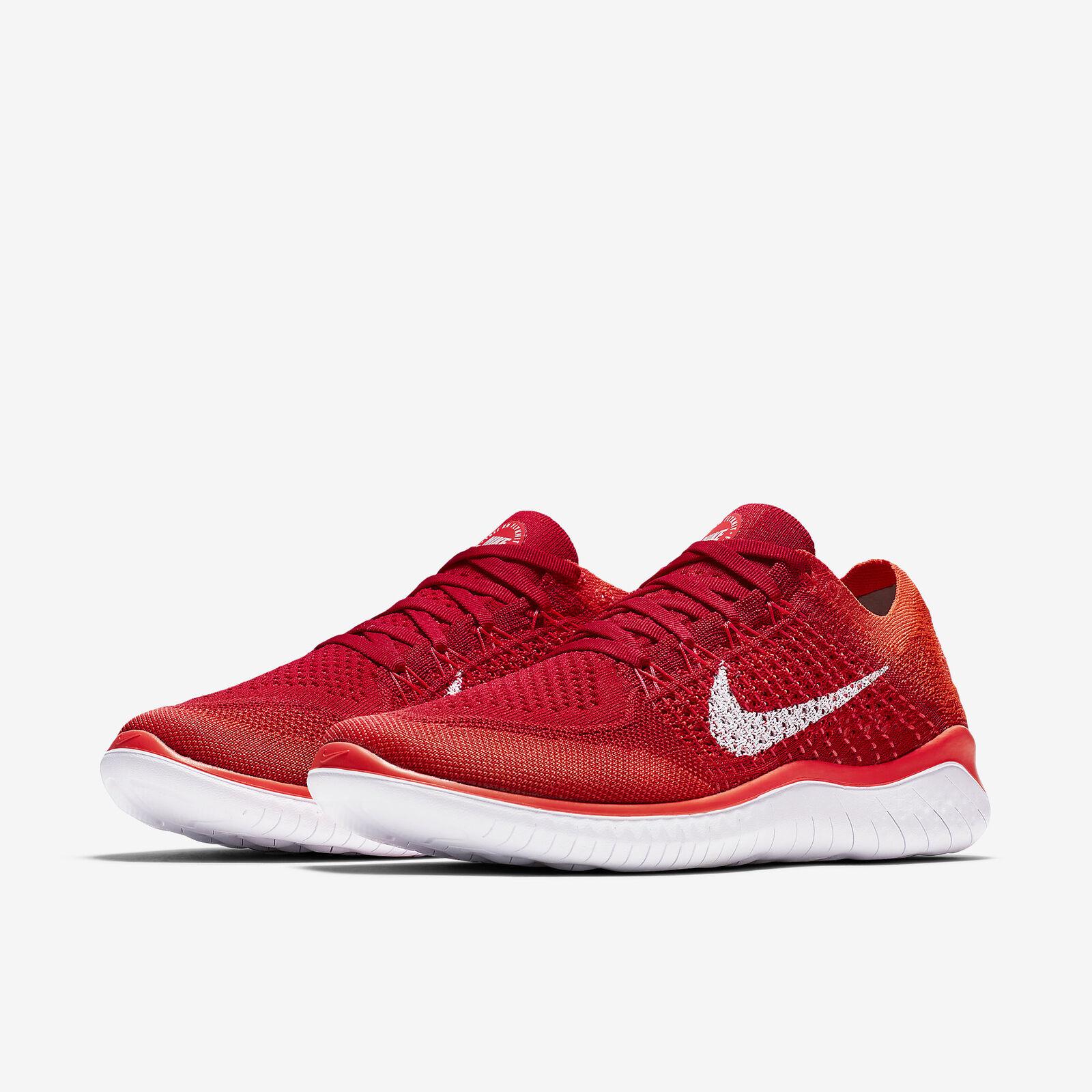 Nike Free RN Flyknit 2018 University Red/Bright Crimson Mens Running All NEW