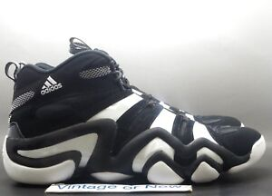 premium selection 658b4 e5793 Image is loading Men-039-s-Adidas-Crazy-8-Black-White-
