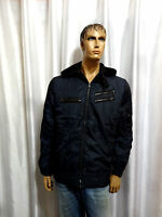 GUESS mens M0F110AP049 ZACHARY Passion Blue Hooded Lined jacket XL XXL NEW $189