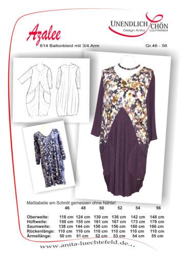 36-56   Mehrgrößenschnitt Kleiderschnittmuster Schnittmuster  Ballonkleid Gr