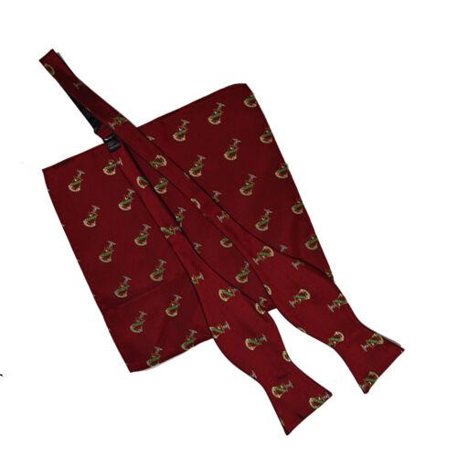 Kappa Sigma Repeating Crest Untied Bow Tie and Handkerchief//Hanky Set Kappa Sig