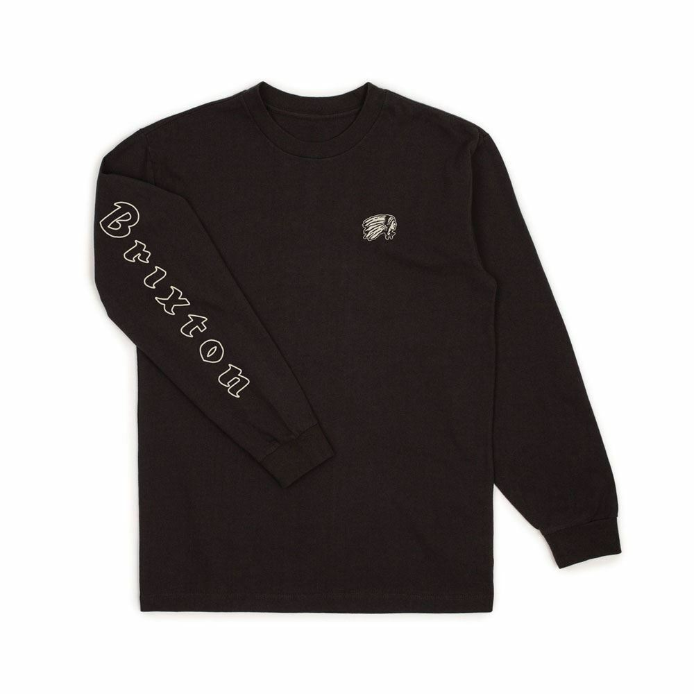 Brixton primo Manica Lunga T-shirt nera
