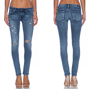 Citizens of Humanity  194 Racer Jeans in Distressed Gaze; 24