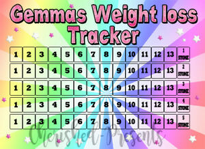 Weight-Loss-Chart-A4-Slimming-Dieting-1-10-stone-tracker-Laminated-sticker-WW-SW