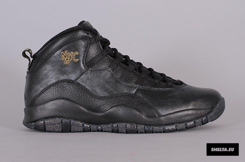 2018 10 Nike Air Jordan 10 2018 x retro NYC oro negro comodo baratos zapatos de mujer zapatos de mujer 7c2304