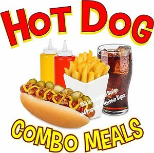 Choose Your Size Custom Hot Dogs We Cater DECAL Food Truck Concession