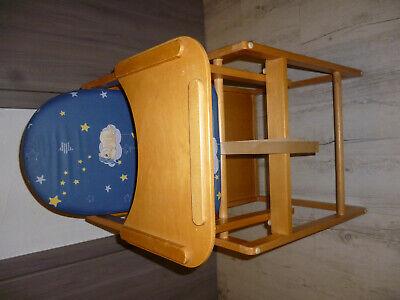 SchöN Kinderhochstuhl Hochtisch Teddybär Und Sterne Blau Mit Tisch Top üBerlegene Materialien