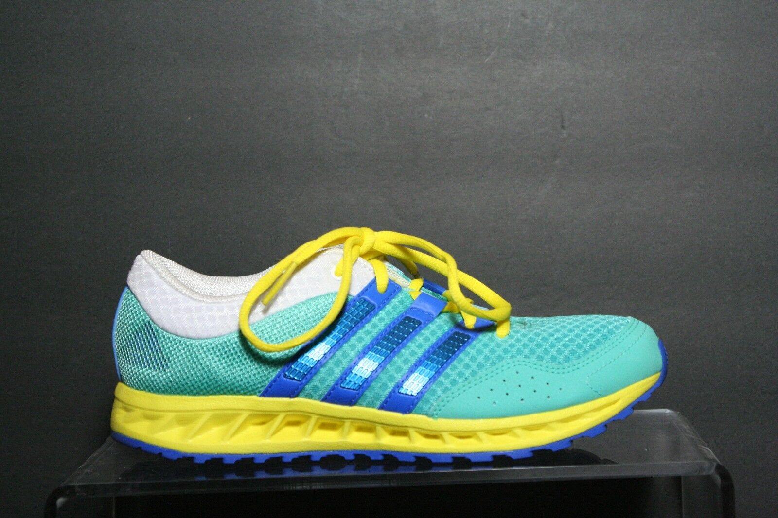 Adidas MI Custom Running 2014 Women 7 Multi Teal Yellow White Blue Training EUC