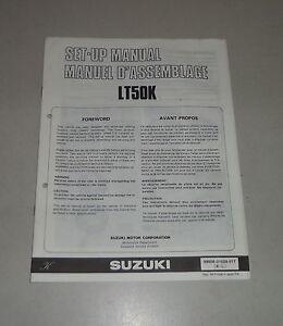 mounting instructions set up manual suzuki lt 50 stand 05 1988 ebay