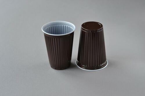 1000 Thermobecher Automatenbecher Kaffeebecher Plastikbecher braun 0,18 l