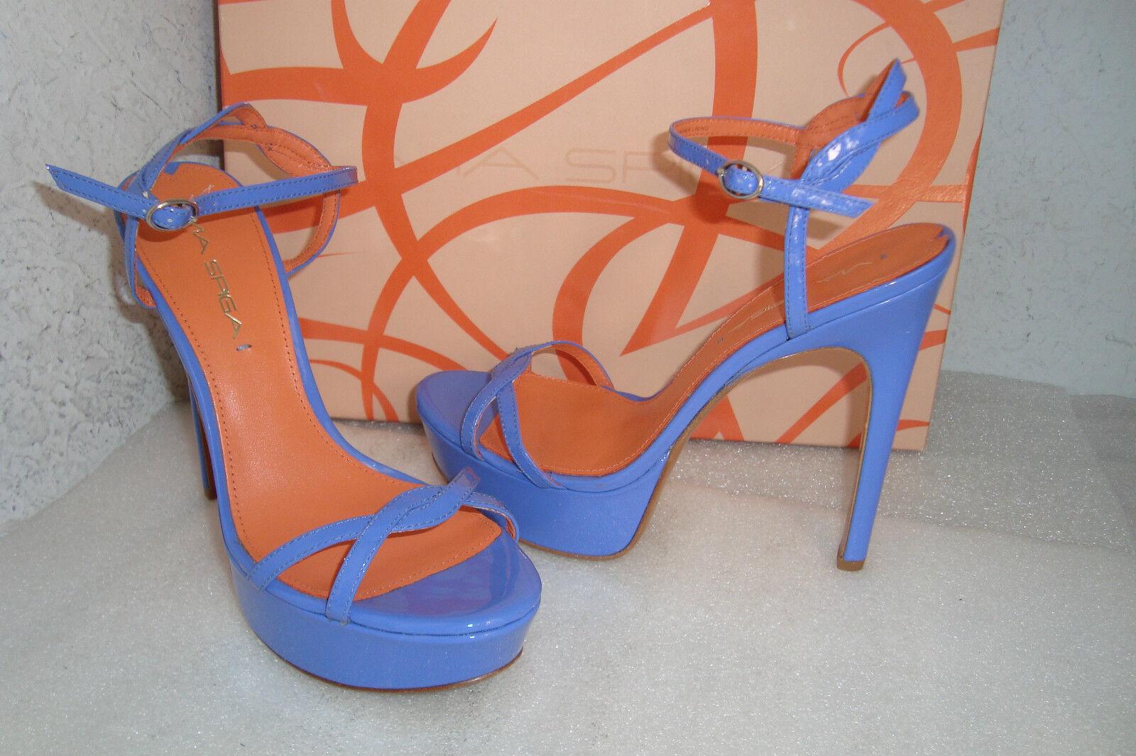 Via Spiga Damenschuhe NWB Heavenly Periw Patent Blau Sandales Schuhes 6 MED NEU