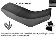 BLACK & GREY CUSTOM FITS APRILIA 650 PEGASO 92-96 DUAL LEATHER SEAT COVER