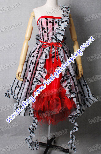 Tim Burton Movie Alice In Wonderland Costume Alice Red Court Um Dress TailorMade