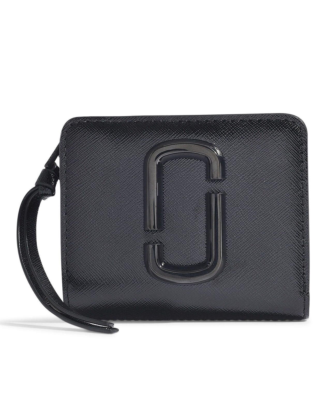 MARC JACOBS Wallet Snapshot DTM Mini Compact in Black Leather 100% Authentic