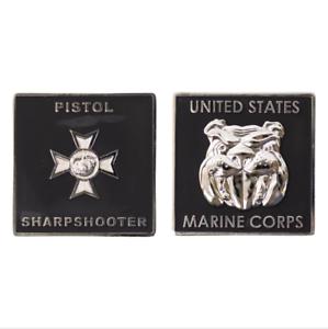 "GENUINE U.S MARINE CORPS COIN PISTOL SHARPSHOOTER 1.75/"""
