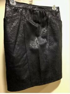 Vintage~ Pencil 26 donna Back ~ posteriore 26 in Vintage Matita Italia Italy pelle ~ Ladies ~ Size Misura gonna Skirt da Leather Mini mini Tx5qf75wR4