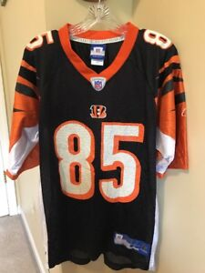 Cheap CHAD JOHNSON CINCINNATI BENGALS JERSEY SIZE S #85 BLACK NFL FOOTBALL  for sale