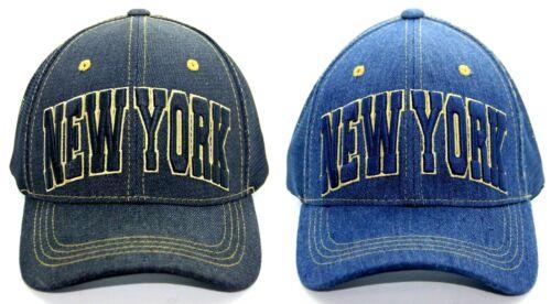 NEW YORK CITY MESH BACK TRUCKER HAT DENIM JEAN BASEBALL CAP ONE SIZE FITS ALL