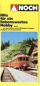 Noch-Hits-Folder-1981-Prospekt-Modelleisenbahn-Zubehoer-brochure-model-railway