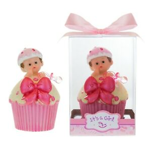 Details About Mega Favors Baby Girl Inside Cupcake With Pacifier Poly Resin Pink 12pcs