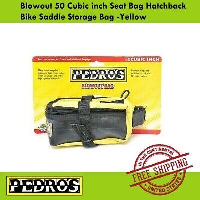 Pedro/'s Blowout Seat Storage Bag 50 Cubic inch Hatchback Bike Saddle Bag Yellow