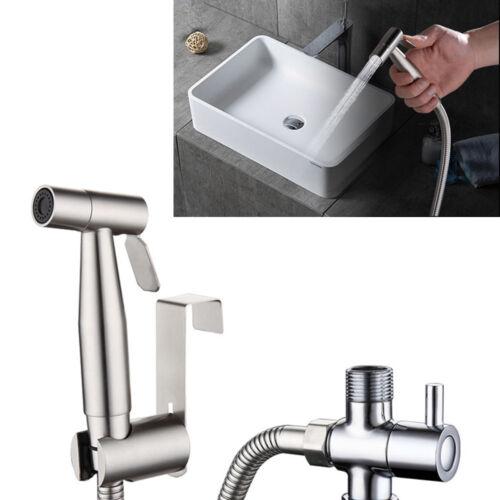 Bathroom Spray Head Hand Held Chrome Douche Bidet Toilet Shower Head w// Hose New