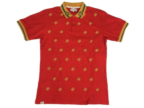 Men/'s Rise As 1ne Allover Bee Print Streetwear Polo Shirt