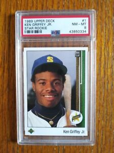 1989-Upper-Deck-Ken-Griffey-Jr-RC-PSA-8