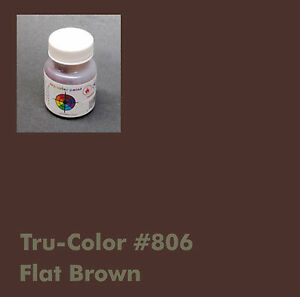 Image Is Loading 806 Tru Color Paint Flat Brown