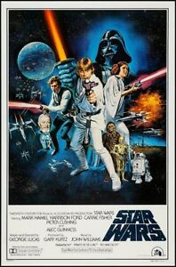 Star Wars Episode Iv A New Hope Movie Poster Usa Style C 24x36 653553569601 Ebay