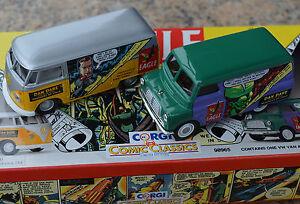 Corgi-98965-Eagle-Dan-Dare-set-VW-amp-Bedford-van-MIB
