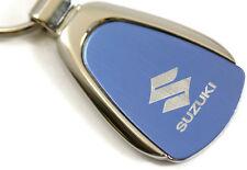 Suzuki Blue Teardrop Authentic Logo Key Ring Fob Keychain Lanyard
