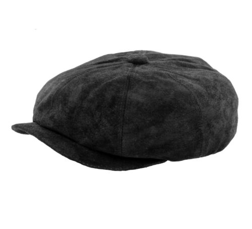 Whiteley Soft Leather Bakerboy//Newsboy//Peaky Blinders Cap Black or Brown