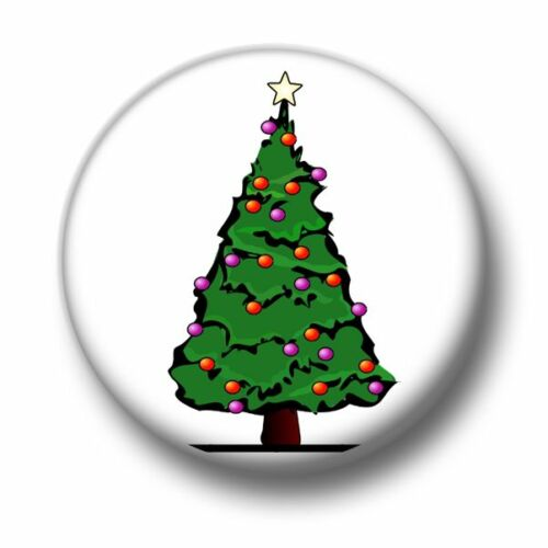 25mm Pin Button Badge Decorations Santa Claus Xmas Fun Christmas Tree 1 Inch