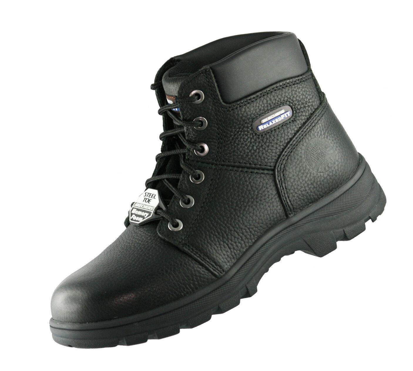 Skechers BLK Workshire Sicherheitsschuhe 77009EC schwarz BLK Skechers Stiefel Arbeitsschuhe d51649