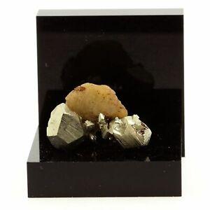 Siderite-Pyrite-Quartz-30-75-ct-Mesage-Mine-Vizille-France-Rare