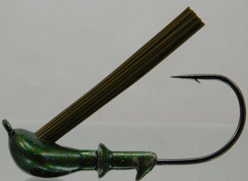 Unskirted Weedless Light Wire DC Arky Jig w//Gamakatsu Hook Watermelon Colors