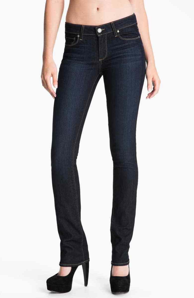 Paige Denim Skyline Straight - Stream Wash Stretch Dark bluee Jeans Size 32