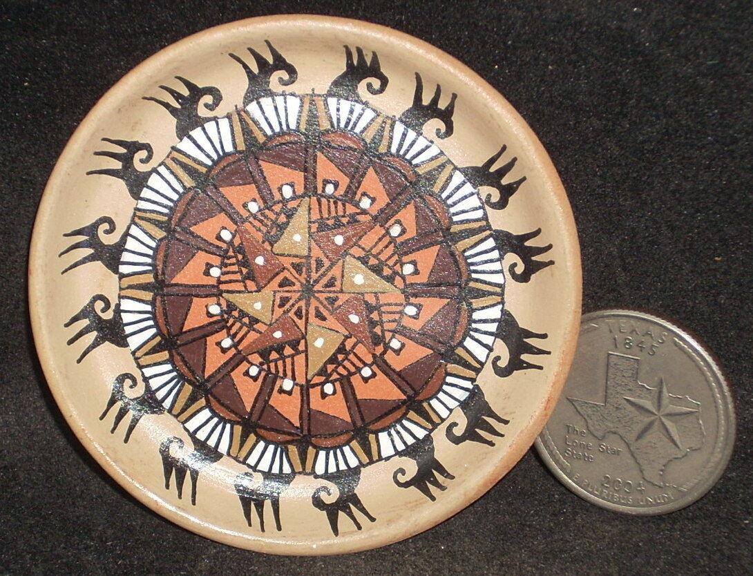 Miniatura Southwest Nativa Americana India Gloria bogulas  gb 016 Placa Plato