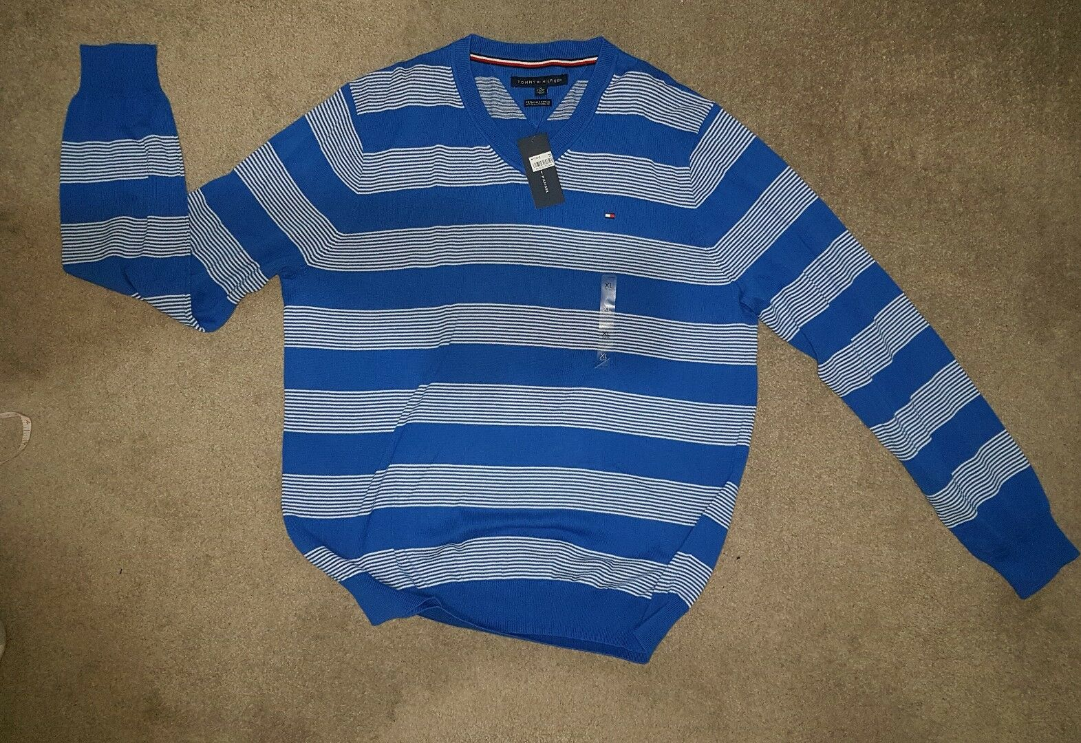 Mens long sleeve stripe t-shirt XL