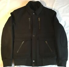 Air To Surface Mens Jacket Black Cashmere/Wool Large