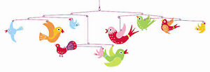 Djeco Flight of Fancy Colorful Birds Modern Hanging Baby Mobile