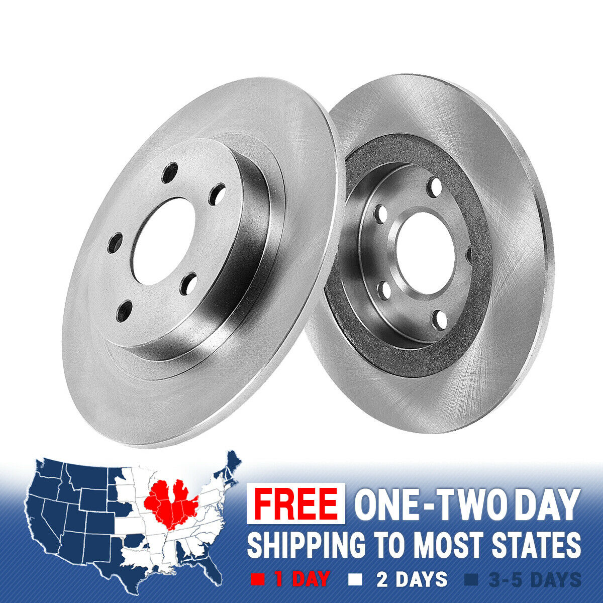 Front And Rear Brake Rotors Kit For Grand Caravan Journey Routan Town /& Country