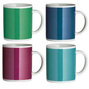 Set-Of-6-Porcelain-Mugs-11oz-Kitchen-Tea-Coffee-Latte-Hot-Colour-Drinks-Cups-New