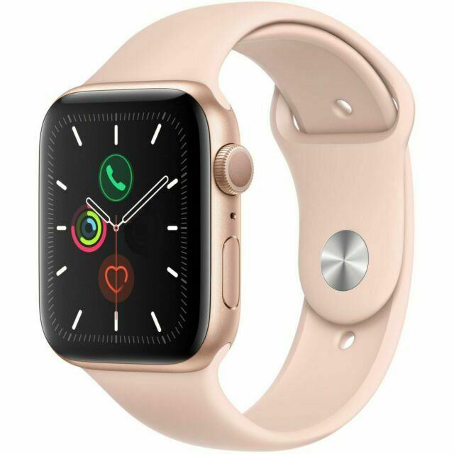 Apple Watch Series 5 40mm Aluminum Gold Case Pink Sand Sport Band Mwv72ll A For Sale Online Ebay