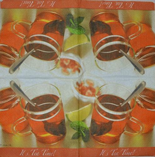 PAPER TABLE NAPKINS FOR CRAFT VINTAGE TEA CUPS DECOUPAGE TEA PARTIES 281