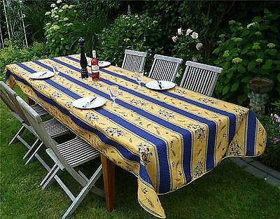 pflegeleicht Tischdecke Provence 150x200 cm blau gelb Oliven aus Frankreich